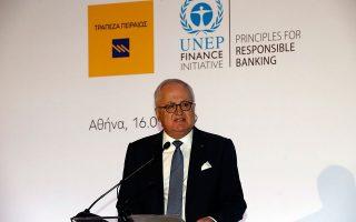 O πρόεδρος της Τράπεζας Πειραιώς και πρόεδρος της Ελληνικής Ένωσης Τραπεζών, Γιώργος Χαντζηνικολάου.