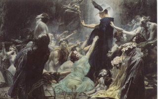 Ψυχές πεθαμένων ανθρώπων στις όχθες του ποταμού Αχέροντα. Εργο του Αντολφ Χιρέμι-Χιρσλ (1860-1933).
