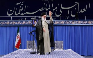 epa07674208 A handout photo made available by the supreme leader office shows Iranian supreme leader Ayatollah Ali Khamenei gesturing during a meeting with Iranian judiciary officials in Tehran, Iran, 26 June 2019. According to reports, Khamenei said his country will 'never retreat' in the face of US sanctions, two days after US President Donald Trump signed an executive order for additional sanctions against Iran and its leadership, in the wake of rising tensions in the Middle East including Iran's recent shooting down of a US drone.  EPA/LEADER OFFICE HANDOUT  HANDOUT EDITORIAL USE ONLY/NO SALES