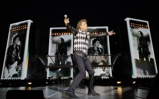 Mick Jagger of the Rolling Stones performs during the