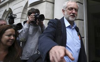 Britain's opposition Labour Party Leader Jeremy Corbyn arrives to speak at a Communication Workers Union (CWU) meeting in London, Britain August 1, 2016. REUTERS/Neil Hall