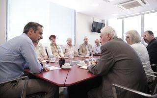 O πρόεδρος της Νέας Δημοκρατίας Κυριάκος Μητσοτάκης συναντήθηκε με τον πρόεδρο και το Διοικητικό Συμβούλιο της Συνομοσπονδίας των Πολυτέκνων, Πέμπτη 27 Ιουνίου 2019. ΑΠΕ-ΜΠΕ/ΓΡΑΦΕΙΟ ΤΥΠΟΥ ΝΔ/ΔΗΜΗΤΡΗΣ ΠΑΠΑΜΗΤΣΟΣ