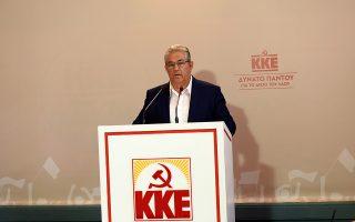 Ο γγ του της ΚΕ του ΚΚΕ, Δημήτρης Κουτσούμπας ανακοινώνει το ψηφοδέλτιο του ΚΚΕ για τις εκλογές της 7ης Ιουλίου,  την Τετάρτη 19 Ιουνίου 2019.  ΑΠΕ-ΜΠΕ/ΑΠΕ-ΜΠΕ/ΜΑΝΩΛΗΣ ΠΑΚΙΑΣ