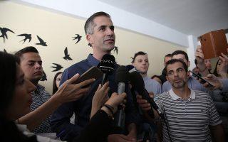 Ο υποψήφιος Δήμαρχος Αθηναίων, Κώστας Μπακογιάννης (Κ), παρευρίσκεται για δηλώσεις στο 14ο Γυμνάσιο Αθηνών στο Κουκάκι, Αθήνα, Κυριακή 2 Ιουνίου 2019. ΑΠΕ-ΜΠΕ/ ΑΠΕ-ΜΠΕ/ ΣΥΜΕΛΑ ΠΑΝΤΖΑΡΤΖΗ