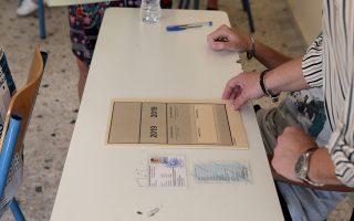 Μαθητές συμμετέχουν στις Πανελλαδικές Εξετάσεις στο 1ο ΕΠΑΛ Καισαριανής , Πέμπτη 6 Ιουνίου 2019. Ξεκίνησαν οι Πανελλαδικές Εξετάσεις στο Επαγγελματικά Λύκεια με πρώτο μάθημα την Ελληνική Γλώσσα. ΑΠΕ-ΜΠΕ/ΑΠΕ-ΜΠΕ/Παντελής Σαίτας