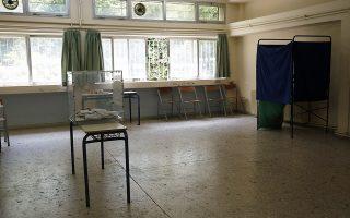 Εκλογικό κέντρο,  στο 1ο Λύκειο της Κηφισιάς, Αθήνα Κυριακή 2 Ιουνίου 2019. Οι Ελληνες πολίτες ψηφίζουν σήμερα για τον δεύτερο γύρο των Δημοτικών και Περιφερειακών Εκλογών. ΑΠΕ-ΜΠΕ/ΑΠΕ-ΜΠΕ/ΑΛΕΞΑΝΔΡΟΣ ΒΛΑΧΟΣ