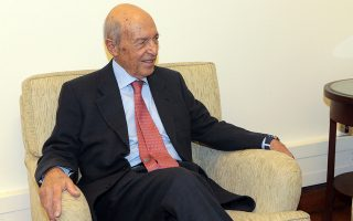 Ο πρώην πρωθυπουργός Κώστας Σημίτης κατα τημ σ΄νάντηση του με τονπρόεδρο της ΔΗΜΑΡ Θανάση Θεοχαρόπουλο , Αθήνα Τρίτη 20 Νοεμβρίου 2018. ΑΠΕ-ΜΠΕ/ΑΠΕ-ΜΠΕ/Παντελής Σαίτας