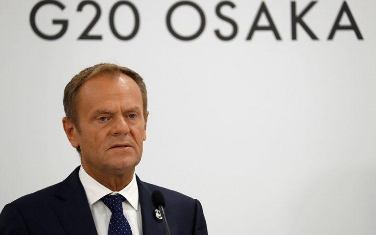 Τουσκ: «Πιο κοντά» σε συμφωνία για τα πόστα της ΕΕ – Την Κυριακή η απόφαση