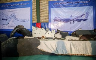 The purported wreckage of the American drone is seen displayed by the Islamic Revolution Guards Corps (IRGC) in Tehran, Iran June 21, 2019. Tasnim News Agency/Handout via REUTERS ATTENTION EDITORS - THIS IMAGE WAS PROVIDED BY A THIRD PARTY.