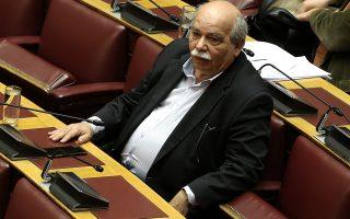Ο πρόεδρος της Βουλής Νίκος Βούτσης παρίσταται στη συζήτηση για την αναθεώρηση του Συντάγματος, στην αίθουσα της Ολομέλειας της Βουλής, Αθήνα, Τρίτη 12 Φεβρουαρίου 2019. ΑΠΕ-ΜΠΕ/ΑΠΕ-ΜΠΕ/ΣΥΜΕΛΑ ΠΑΝΤΖΑΡΤΖΗ