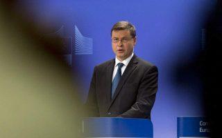 Ο αντιπρόεδρος της Κομισιόν, Βάλντις Ντομπρόβσκις, δήλωσε πως μια υγιής δημοσιονομική κατάσταση αποτελεί πυλώνα για την αξιοπιστία και την ανάπτυξη μιας χώρας.