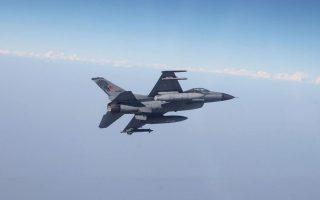 Την Τρίτη καταγράφηκαν 30 παραβιάσεις από 12 οπλισμένα τουρκικά F-16, εκ των οποίων οι έξι μετεξελίχθηκαν σε εμπλοκές με ελληνικά μαχητικά.