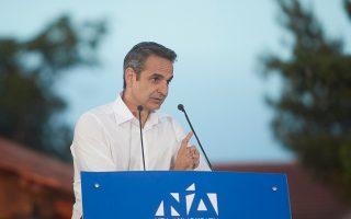 Ο Κυριάκος Μητσοτάκης θα μιλήσει απόψε στο Θησείο, στη μοναδική ανοικτή προεκλογική συγκέντρωση της Ν.Δ.