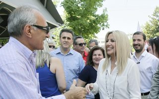 Η κ. Γεννηματά βρέθηκε χθες στην Καρδίτσα, στο πλαίσιο περιοδείας στη Θεσσαλία.