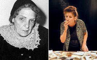 Πολλές μεγάλες λαϊκές επιτυχίες γράφτηκαν από τη Μικρασιάτισσα στιχουργό, χωρίς ωστόσο να της αποδοθούν στα χρόνια που ακολούθησαν. Δεξιά, η Νένα Μεντή ενσάρκωσε στη θεατρική σκηνή την Ελληνίδα στιχουργό σε έναν μονόλογο - αφήγηση της ζωής της.