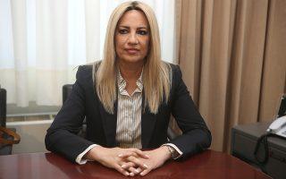 Η πρόεδρος του Κινήματος Αλλαγής Φώφη Γεννηματά.