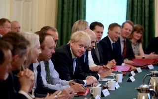 REFILE - ADDING INFORMATION Britain's Prime Minister Boris Johnson holds his first Cabinet meeting at Downing Street in London, Britain, July 25, 2019  Aaron Chown/Pool via REUTERS
