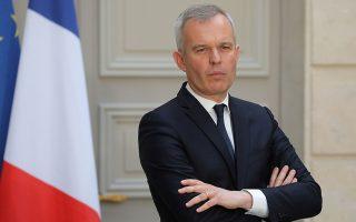 Ο υπουργός Περιβάλλοντος της Γαλλίας Φρανσουά ντε Ρουζί σε πρόσφατη συνέντευξη Τύπου.