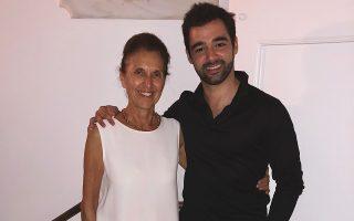 Η Τζένη Σοφιανού με τον Ισπανό Πάμπλο Φεράντεζ, πέρυσι.