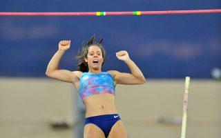Την καλύτερή της φετινή επίδοση έκανε η Κατερίνα Στεφανίδη, με άλμα στα 4,83 μ., στο Πανελλήνιο Πρωτάθλημα της Πάτρας.