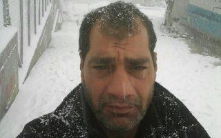Ο 46χρονος Σύρος μετανάστης στην παγωμένη Μόρια, τον σφοδρό χειμώνα του 2017.