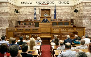 Η προσπάθεια του Αλέξη Τσίπρα να εμφανιστεί πιο ώριμος πολιτικά και να ασκήσει διαφορετικά τα καθήκοντα του αρχηγού της αξιωματικής αντιπολίτευσης ήταν διακριτή στην ομιλία του στη νέα Κ.Ο. του ΣΥΡΙΖΑ.