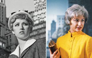 Δύο από τις εικόνες/περσόνες της Αμερικανίδας φωτογράφου που εκτίθενται στη National Portrait Gallery.