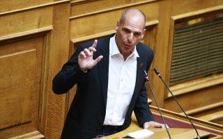 Ο επικεφαλής του κόμματος Γιάνης Βαρουφάκης.