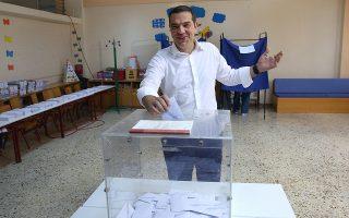Ο Πρωθυπουργός και Πρόεδρος του ΣΥΡΙΖΑ, Αλέξης Τσίπρας, ασκεί το εκλογικό του δικαίωμα για τις Βουλευτικές Εκλογές 2019, στο 649ο εκλογικό τμήμα, στο 27ο και 30ο δημοτικό σχολείο Αθηνών, την Κυριακή 7 Ιουλίου 2019. Διεξάγονται σήμερα από τις 7.00 το πρωί έως τις 7.00 το απόγευμα σε όλη τη χώρα οι εθνικές βουλευτικές εκλογές.ΑΠΕ-ΜΠΕ/ΑΠΕ-ΜΠΕ/ΟΡΕΣΤΗΣ ΠΑΝΑΓΙΩΤΟΥ