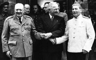 Ξεκινάει στην πόλη του Πότσνταμ, πρωτεύουσα του γερμανικού κρατιδίου του Βρανδεμβούργου, η τελευταία διάσκεψη των «Τριών Μεγάλων» (Big Three), στην οποία οι Σύμμαχοι έλαβαν σημαντικές αποφάσεις για το ευρωπαϊκό μεταπολεμικό τοπίο, την τύχη της ηττημένης και ισοπεδωμένης Γερμανίας και την εγκαθίδρυση και διατήρηση της ειρήνης στην Ευρώπη, το 1945. ASSOCIATED PRESS