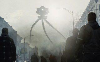 Σκηνή από την ταινία (2005) του Στίβεν Σπίλμπεργκ «Ο πόλεμος των κόσμων», που βασίζεται στο βιβλίο του Ουέλς.