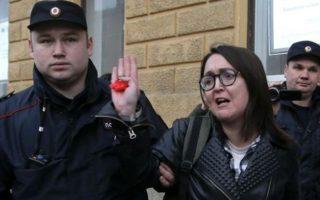 Η Ρωσίδα ακτιβίστρια είχε συλληφθεί τον Απρίλιο για τη συμμετοχή της σε μία απαγορευμένη διαδήλωση. REUTERS