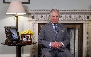 """In this photo taken on Thursday, March 15, 2018, Britain's Prince Charles looks on ahead of delivering his Easter message at Clarence House in London. Prince Charles has released a videotaped Easter message offering support for persecuted Christians around the world. The message released Friday, March 30 was recorded earlier this month at Charles' Clarence House residence in central London. He expresses sympathy for people who have """"had to flee for their faith and for their life"""" and says he has been deeply moved by their courage and ability to forgive.(AP Photo/Kirsty Wigglesworth)"""