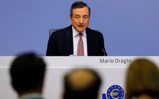 European Central Bank (ECB) President Mario Draghi holds a news conference at the ECB headquarters in Frankfurt, Germany, July 25, 2019. REUTERS/Ralph Orlowski