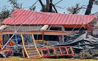 Εικόνες ολοκληρωτικής καταστροφής μετά το πρωτοφανές καιρικό φαινόμενο στη Χαλκιδική. Υπολογίζεται ότι συνολικά 378.500 στρέμματα με διάφορες καλλιέργειες έχουν πληγεί σε πολλούς νομούς.