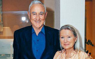 Ο πρόεδρος του Κολλεγίου, Ρίτσαρντ Τζάκσον, με τη σύζυγό του Εΐα.