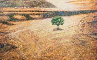 Η δημιουργός επιλέγει να αποδώσει εικόνες την ώρα της μοναξιάς της Φύσης.