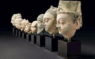 Οι κεφαλές θα παρουσιαστούν στο Βρετανικό Μουσείο.