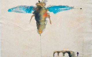 Εργο του Ιάσονα Βενετσανόπουλου στην ομαδική έκθεση στην Αίθουσα Τέχνης Αθηνών, εμπνευσμένο από το «Καλοκαίρι» του Αλμπέρ Καμύ.