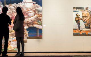 Εργα καινούργια και παλαιότερα συνθέτουν την έκθεση με τίτλο «Οριακά ανθρώπινος» του Νίκου Μόσχου στη Βασιλική του Αγίου Μάρκου στο Ηράκλειο.