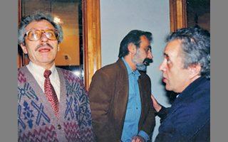 Κώστας Βρεττάκος, Γιώργος Καρυπίδης και Σταύρος Τσιώλης στο Φεστιβάλ Θεσσαλονίκης το 1992.