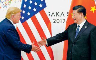 «Είμαστε και πάλι στον δρόμο για συνομιλίες», δήλωσε ο πρόεδρος Τραμπ στους δημοσιογράφους μετά τη συνάντησή του, διάρκειας 80 λεπτών, με τον Κινέζο ομόλογό του, ο οποίος τον διαβεβαίωσε ότι η Κίνα θα προχωρήσει σε αγορές αμερικανικών αγροτικών προϊόντων.