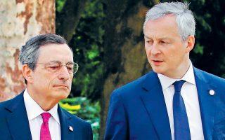 Ο επικεφαλής της Ευρωπαϊκής Κεντρικής Τράπεζας Μάριο Ντράγκι και ο Γάλλος υπ. Οικονομικών Μπρινό Λε Μερ έχουν ζητήσει τη σύνταξη πορίσματος για τα κρυπτονομίσματα το συντομότερο δυνατόν.