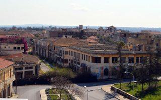 Η συνοικία Βαρώσια στην Αμμόχωστο της Κύπρου.
