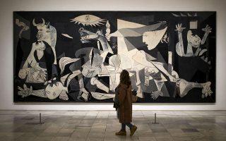 Η «Γκερνίκα», έργο του 1937, εμπνευσμένο από τον βομβαρδισμό της ομώνυμης βασκικής πόλης από τους Γερμανούς.
