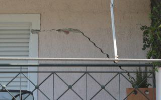 Μικρές φθορές έχει υποστεί κτήριο στο Χαϊδάρι από τον χθεσινό σεισμό , Σάββατο 20 Ιουλίου 2019. ΑΠΕ-ΜΠΕ/ΑΠΕ-ΜΠΕ/Παντελής Σαίτας