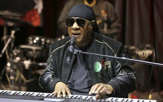 FILE - In this Tuesday, Nov. 27, 2018 file photo, Stevie Wonder performs live at the