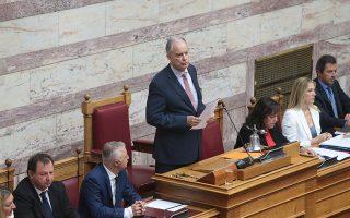 Ο  Κωνσταντίνος Τασούλας μιλά στην ολομέλεια μετά την εκλογή του ως Πρόεδρος της Βουλής, Πέμπτη 18 Ιουλίου 2019. Με θέμα ημερήσιας διάταξης την εκλογή νέου προέδρου του Σώματος, συνεδρίασε ι η Ολομέλεια της Βουλής. ΑΠΕ-ΜΠΕ/ΑΠΕ-ΜΠΕ/Παντελής Σαίτας