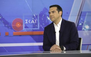 (Ξένη Δημοσίευση)  Ο πρωθυπουργός, Αλέξης Τσίπρας παραχώρησε συνέντευξη εφ' όλης της ύλης στο κεντρικό δελτίο ειδήσεων του ΣΚΑΪ στην παρουσιάστρια Σία Κοσσιώνη και στον διευθυντή της «Καθημερινής» Αλέξη Παπαχελά,  την Τρίτη 2 Ιουλίου 2019, στο Φάληρο.   ΑΠΕ-ΜΠΕ/ΓΡΑΦΕΙΟ ΤΥΠΟΥ ΠΡΩΘΥΠΟΥΡΓΟΥ/Andrea Bonetti