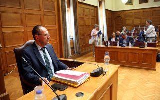 Ο υπουργός Επικερατείας Γιώργος Γεραπετρίτης  στη σημερινή συνεδρίαση της Διαρκούς Επιτροπής Δημόσιας Διοίκησης, Δημόσιας Τάξης και Δικαιοσύνης της Βουλής με θέμα ημερήσιας διάταξης: Επεξεργασία και εξέταση του σχεδίου νόμου του Υπουργού Επικρατείας «Επιτελικό Κράτος: Οργάνωση, λειτουργία και διαφάνεια της Κυβέρνησης, των Κυβερνητικών Οργάνων και της Κεντρικής Δημόσιας Διοίκησης»,  Δευτέρα 29 Ιουλίου 2019. ΑΠΕ-ΜΠΕ/ΑΠΕ-ΜΠΕ/Αλέξανδρος Μπελτές